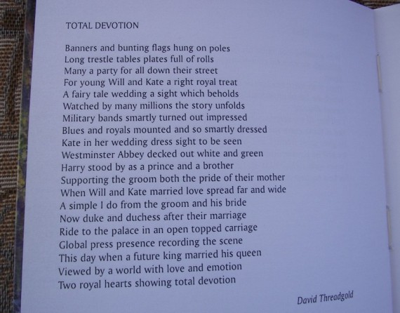 This is my latest poem it goes into print in two months time. publishers united press Ltd.